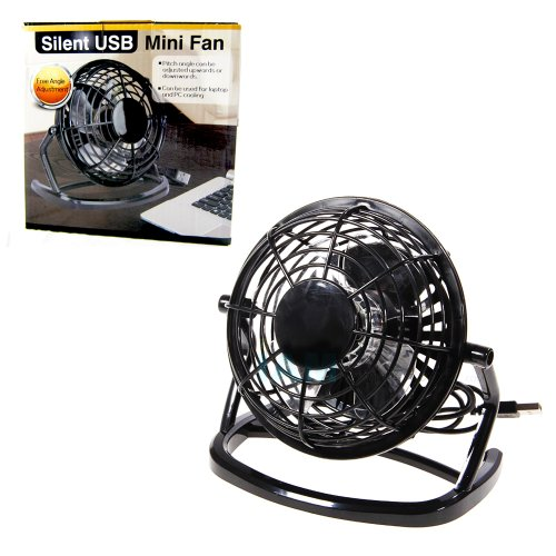 Desk Fan Portable USB Mini Air Cooling Silent PC Laptop Note