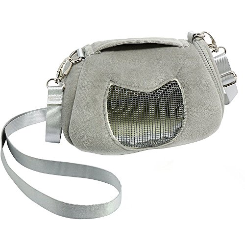 Sugar Glider Squirrels - ASOCEA Portable Pet Carrier Outgoing Handbag with Adjustable Single Shoulder Strap Pouch for Sugar Glider Hamster Squirrel Small Animals 7.08x4.72x3.93 Inch