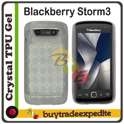 Protector Case Checkers (Blackberry Storm3 9570/ Monaco 9850/ Monza 9860 TPU Rubber Case - Clear Checker)