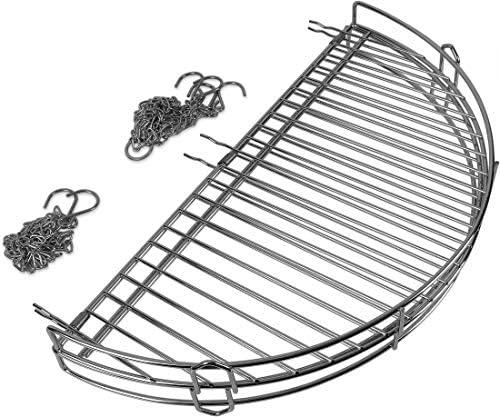 Storfisk fishing & more Grille de Cuisson avec chaîne réglable à maillons Ronds Pliables Diamètre 50 cm