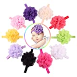 Quest Sweet 10 Pieces Baby's Headbands Girl's Headband Head Wear Flower (10pack)