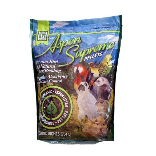 Green Pet Aspen Supreme Pellets Pet and Bird All Natural Litter/Bedding by Kaytee
