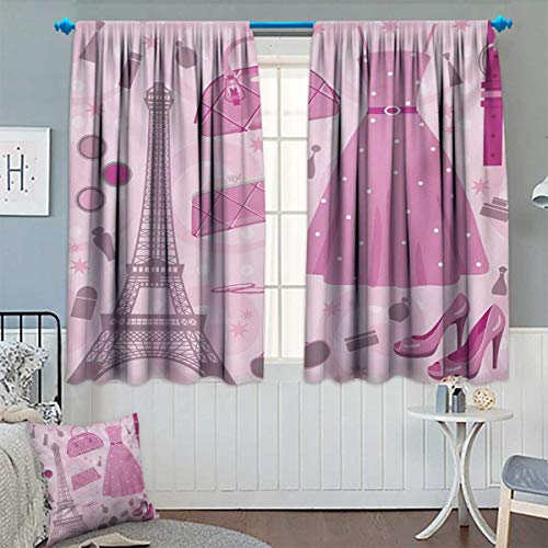 American Atelier Anchors - Chaneyhouse Heels and Dresses Patterned Drape for Glass Door Paris Fashion Atelier French Boutique Feminine Glamor Eiffel Waterproof Window Curtain 55