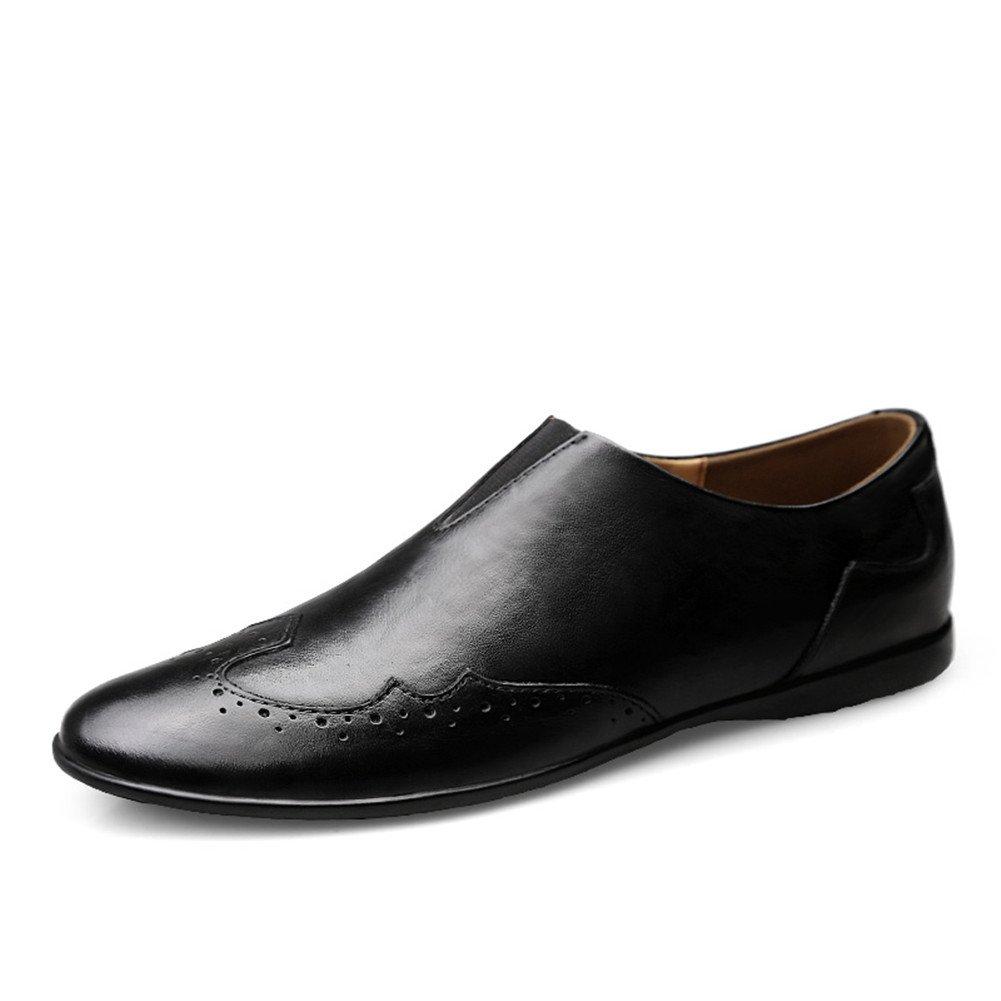 Vestir para Hombre Mocasines Verano Moda Negocios Formales Zapatos Slip On Conducción 40 EU|Negro