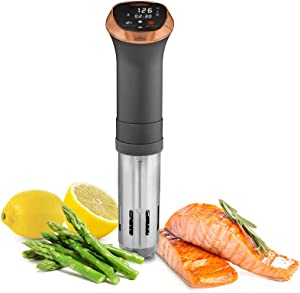 CRUX Sous Vide Professional Style Cooker with Quiet 360-Degree Pump, Copper