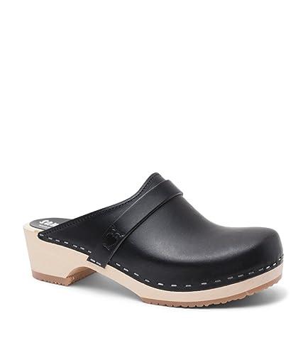 954aac257fd92 Sandgrens Swedish Low Heel Wooden Clog Mules for Women | Tokyo