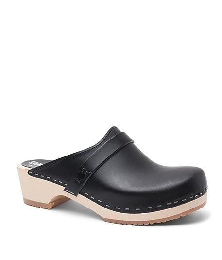 495b2475c7c31 Sandgrens Swedish Low Heel Wooden Clog Mules for Women | Tokyo ...