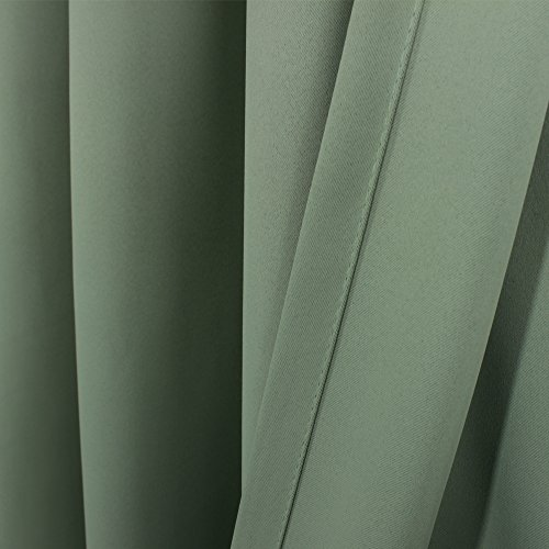 H Versailtex Blackout Room Darkening Curtains Window Panel Drapes Sage Color 2 Panels Per