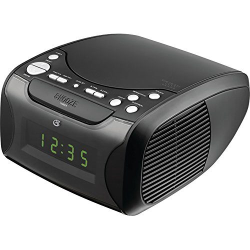 GPX CC314B Audio Alarm Clock with CD, AM/FM and USB