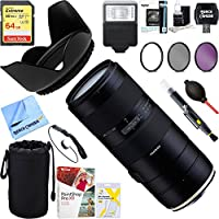 Tamron 70-210mm F/4 Di VC USD Telephoto Zoom Lens for Full-Frame Canon DSLR + 64GB Ultimate Filter & Flash Photography Bundle