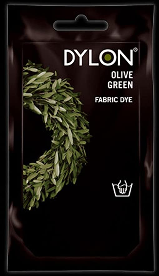 Dylon Tinte para ropa de plástico & Dye solo mano, 34, color verde oliva