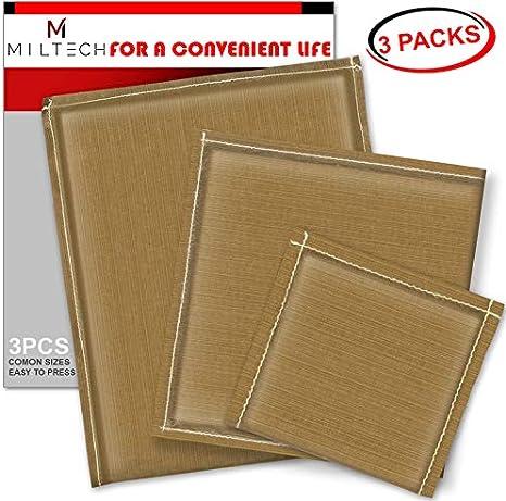 MILTECH Heat Press Pillows Heat Pressing Transfer Pillows Kit 5 Pack with 4 Sizes Transfer Pillow and 1 Pcs Teflon Transfer Sheet for Vinyl Digital Transfer Projects