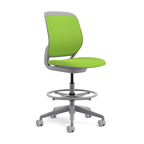 Steelcase Cobi Swivel Base Stool: Standard Carpet Casters   Armless
