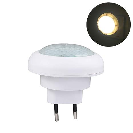 ledmomo 8 LED Detector de movimiento PIR sensor de luz Luz nocturna LED Bombilla Gabinete luces
