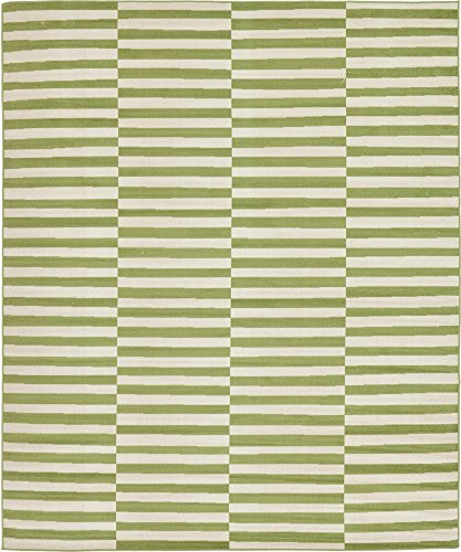 - Unique Loom Williamsburg Collection Casual Striped Green Area Rug (8' 0 x 10' 0)