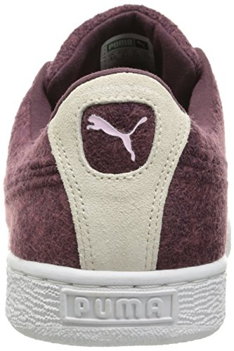 Puma Mens Basket Classic Embossed Wool Fashion Sneaker Wine Tasting/Lilac Synthetic