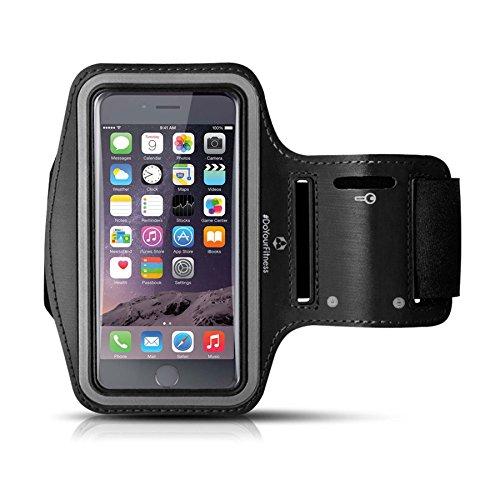 Sportarmband Hülle Armtasche Hülle Sweatproof Rennen Case und Schlüsselhalter für iPhone 7, 6 (4,7