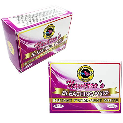 NAVARRO'S Bleaching Soap - Instant Permanent White - with infused AHA Serum New