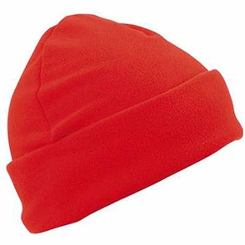 Myrtle Beach MB7720–Gorro polar, estilo de marinero, solapa grande, color rojo, unisex para hombre/m...