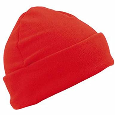 859c458677 MYRTLE BEACH - bonnet polaire style marin large revers - MB7720 - coloris  rouge - mixte