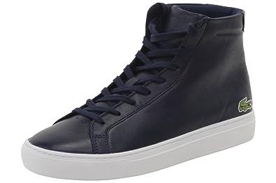 dc78c93087c3 Lacoste Men s L.12.12 Mid 316 1 Navy High Top Sneakers Shoes Sz  9