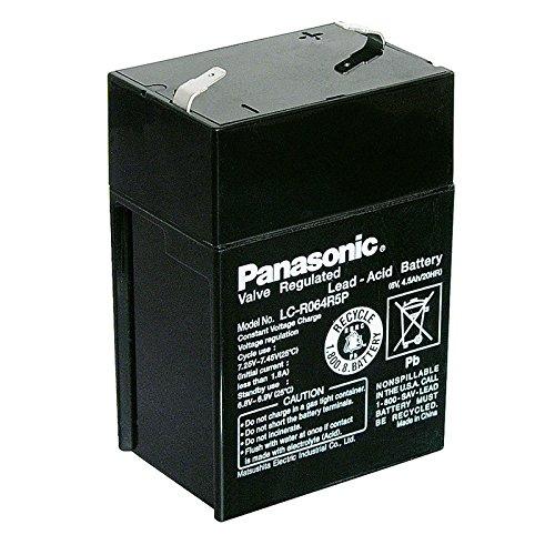 Bleiakku Panasonic Industrial LC-R064R5P für USV Anlagen, Notbeleuchtung, Alarmanlagen - VDS-zugelassen - PB 6V 4500mAh - Akku-King