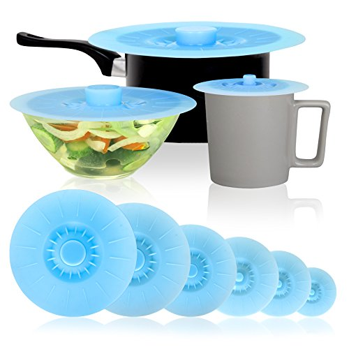 New Professional Set! Silicone Suction Lids and Covers: