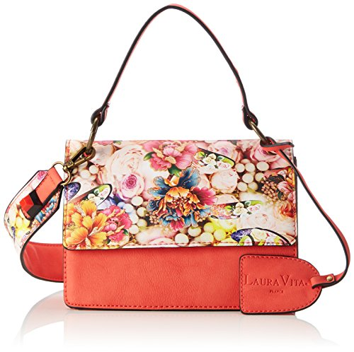 Laura Mujer y Dinan Shoppers bolsos Rosa de Vita hombro Corail grWngPaA0