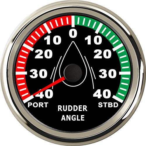 ELING Waterproof Rudder Angle Indicator Gauge Meter 0-190ohm with Mating Sensor 3-3/8
