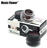 Music Flower Gel Eyeliner, Black -01, Brown- 01, 6 Grams