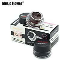 Music Flower Gel Eyeliner, Black -01, Brown- 01, 6 Grams