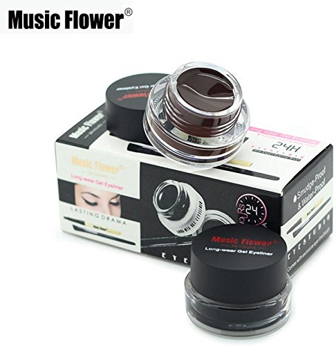 Music Flower Gel Eyeliner, Black -01, Brown- 01, 6 Grams product image