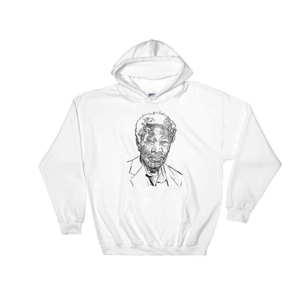 Unisex Morgan Freeman White Hoodie