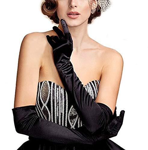 noir accessoires Costume Romote Direct Frank N Furter Gants coude-longueur