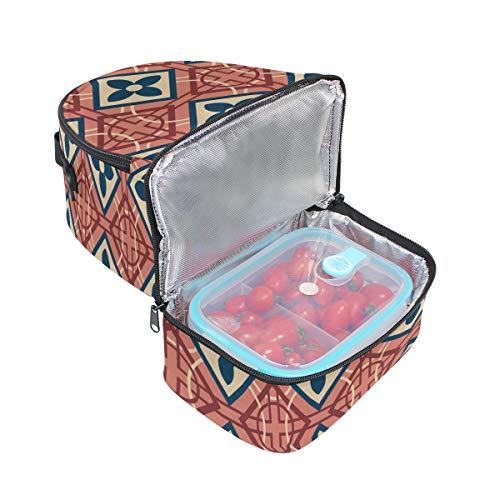 isotherme pour vintage avec Sac l'école Cooler Boîte Folpply à lunch imprimé Pincnic bandoulière à floral réglable Tote 0WSOUq