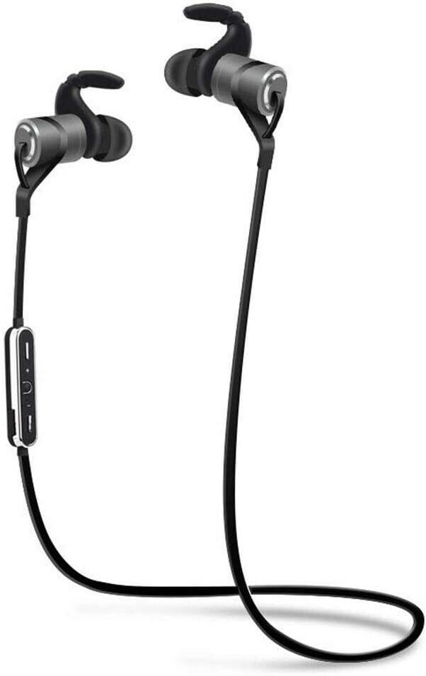Dot. D918 Bluetooth Inalámbrico 5.0 Auriculares Cascos Magnético Prueba de Sudor Internos Audífonos con Integrado Micro - Volumen Control- Ruido Cancelation para Motorola Moto E5 Funciona