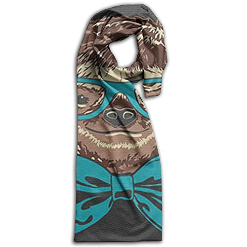 Glasses On A Sloth Winter Scarf Print Warm Best Gift Scarves
