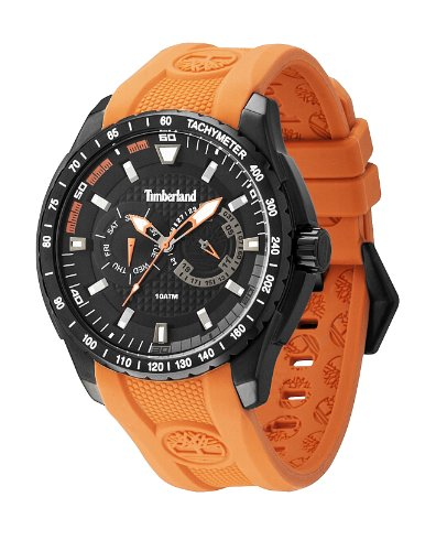 Timberland 13854JSB.02 Mens Juniper Chronograph Orange Silicone Watch