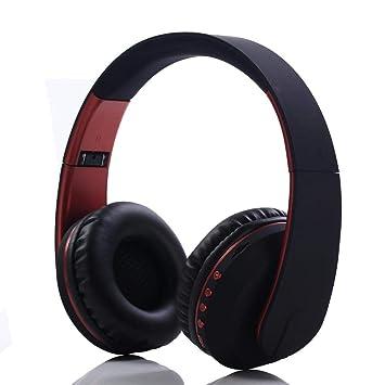 Auriculares Auriculares Bluetooth, Auriculares estéreo inalámbricos, con micrófono, Tarjeta TF y