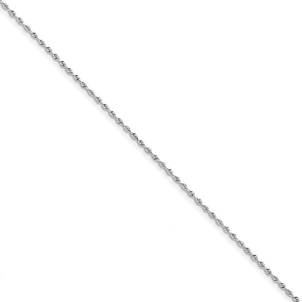 Jewel Tie 10k White Gold 1.84mm Diamond-Cut Quadruple Rope Chain