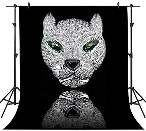 PHMOJEN Diamond Mask Photography Backdrop Cartier Panther Head Background Vinyl 5x7ft Masquerade Dress-up Party Photo Backdrop Studio Props YHPH002