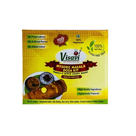 Visavi Food Ventures Tasty Healthy & Super Easy Masala Dosa Kit Ready to Cook 520gms