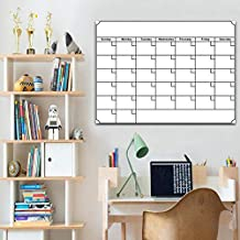 Magnetic Dry Erase Calendar for Fridge with Stain Resistant Technology, Monthly Whiteboard Wall Organizer Refrigerator White Board