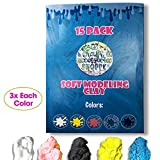Clay for Slime - (Like Daiso Clay, but Smoother!),15 Pack Butter Slime Clay, Soft Modeling Clay for Kids, Air Dry Clay, Slime Stuff, Slime Supplies, 5 Bright Colors, Includes Our Special Snow Clay