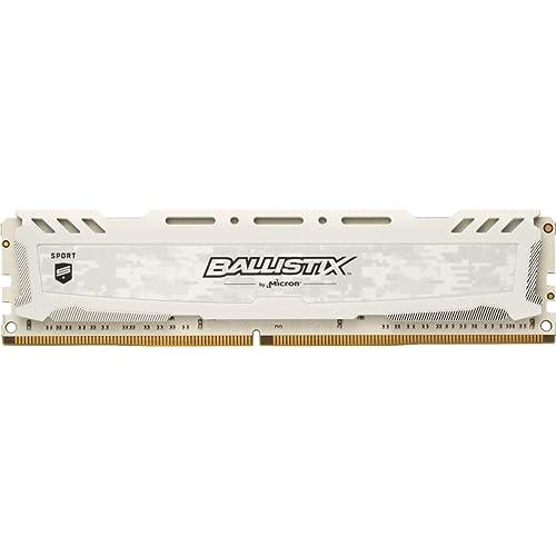Crucial Ballistix Sport LT BLS8G4D32AESCK 3200 MHz DDR4 DRAM Memoria Gamer para ordenadores de sobremesa 8 GB CL16 Blanco
