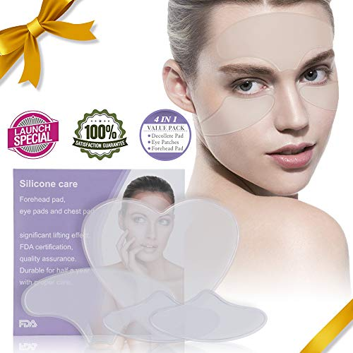 Anti Wrinkle Chest Pad- Reusable - Relassy Eliminate and Prevent Chest Wrinkles - 100% Medical Grade Silicone Decollete Pad