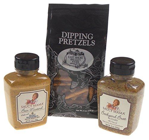 Pretzels with Backyard Brat & Beer Mustard Gift Set ()