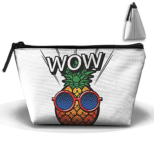 Wow Cool Pineapple Makeup Bag Storage Portable Travel Wash Tote Zipper Wallet Handbag Carry Case ()