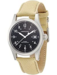 Men's H69419933 Khaki Field Black Dial Watch