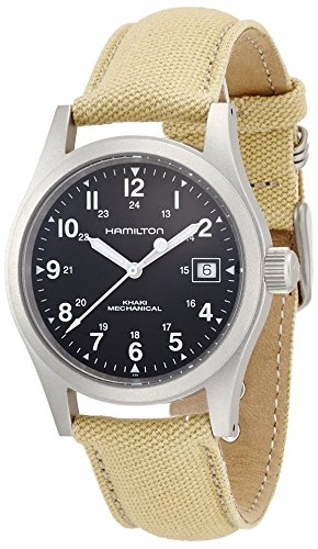 Hamilton Men's H69419933 Khaki Field Black Dial Watch ()